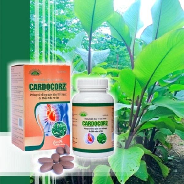 Cardocorz là chế phẩm dạng viên nén được sản xuất từ dịch chiết cây dong riềng đỏ