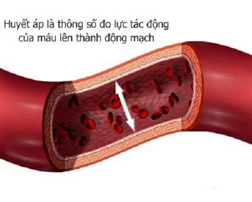 Huyết áp là áp lực của máu lên thành động mạch
