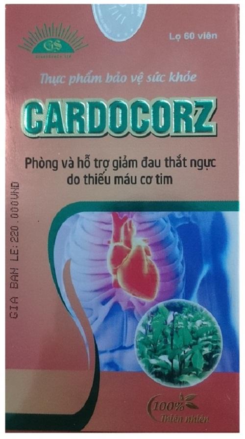 Hình ảnh mặt trước bao bì của chế phẩm bảo vệ sức khỏe Cardocorz