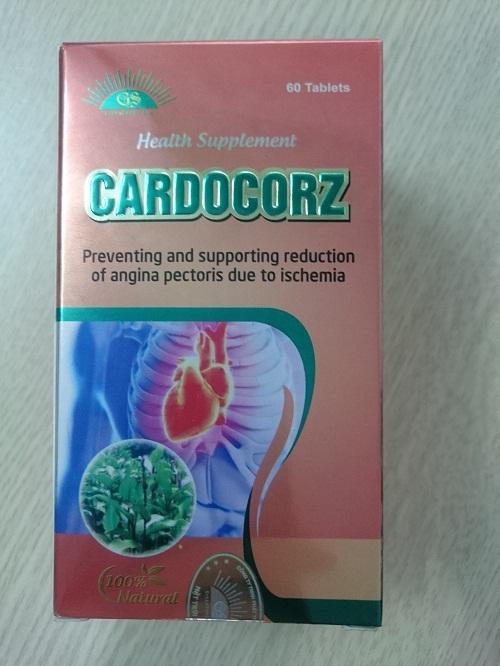 Hình ảnh mặt sau bao bì chế phẩm bảo vệ sức khỏe Cardocorz