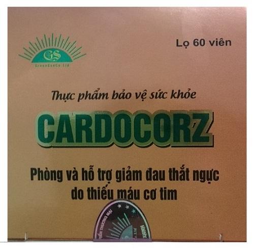 Hình ảnh mặt trên bao bì thực phẩm bảo vệ sức khỏe Cardocorz